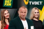 The five-time World's Strongest Man had a card draw with girls in the TVBET studio