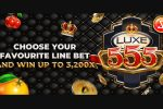 Luxe 555, retro meets modern in a 3x3 reel, 5-line augmented betting experience online slot game